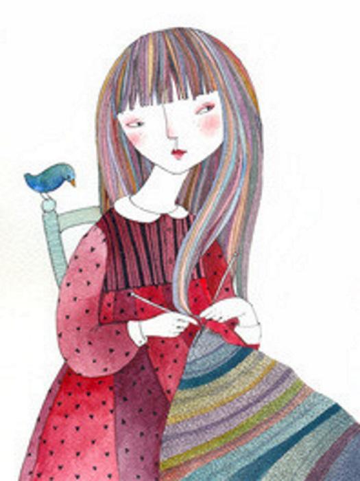 KnittingGirlBird700