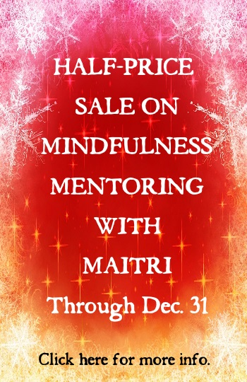 Mindfulness Mentoring With Maitri SALE!